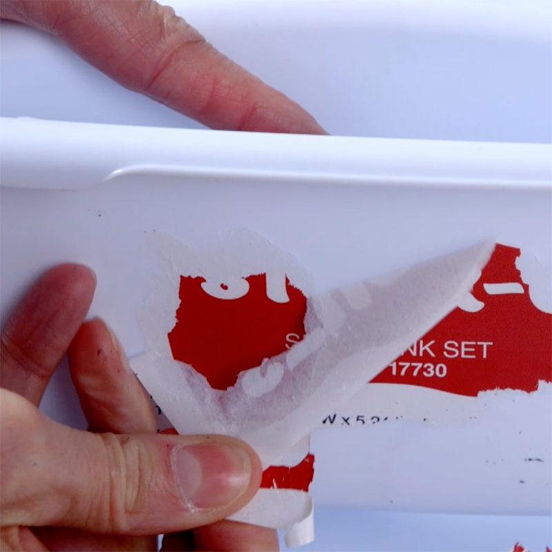 Etiqueta Permanente em Pote de Plástico